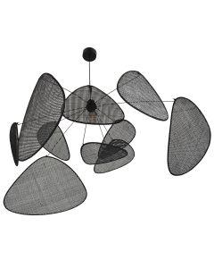 Suspension XXL SCREEN (D100cm) en cannage noir-1-image-2103218