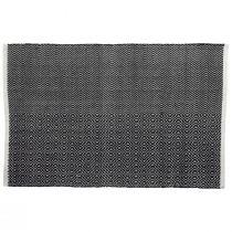Tapis JELTE (75x120) en tissu noir et blanc