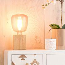 Ampoule déco filament LED E27 KIRUNA en verre rose Ø14cm