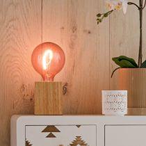 Ampoule déco filament LED E27 NORA en verre rose Ø12.5cm
