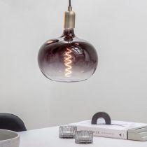 Ampoule déco filament LED E27 BODEN en verre fumé noir moonstone Ø22cm