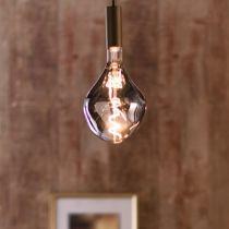 Ampoule déco filament LED XXL E27 ORGANIC en verre fumé noir Ø16.5cm