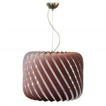 Suspension CLYDE (D46cm) en velours bois de rose