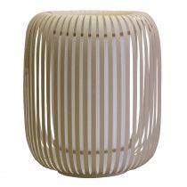 Lampe à poser GRACE (D24cm) en chintz beige