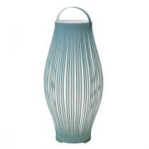 Lampe à poser LEEK (H40cm) en polyester bleu