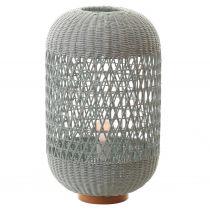 Lampe à poser CHARM en rotin naturel couleur céladon