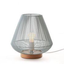 Lampe à poser GROOVE en métal couleur céladon