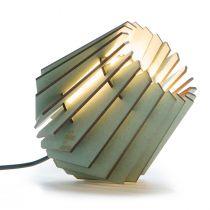 Lampe à poser MINI SPOT en MDF vert menthe