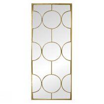 Miroir rectangle GATSBY (H111cm) en métal doré