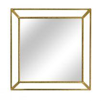 Miroir carré SCOTT (45x45cm) en métal doré