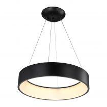 Suspension LED PURE en métal noir