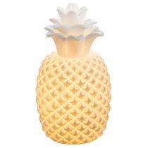 Lampe à poser ananas CHAITA en porcelaine blanche