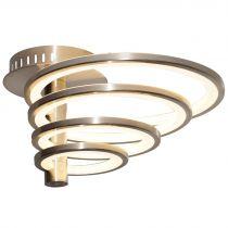 Plafonnier LED CRINGLE en métal argent
