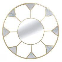 Miroir rond GATSBY (D95cm) en métal doré et verre