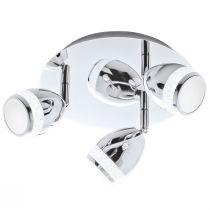 Plafonnier de spots LED RINGO en métal chrome