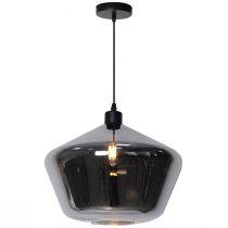 Suspension STEAM (H25cm) en verre fumé noir