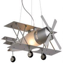 Suspension avion FOCKER en métal gris
