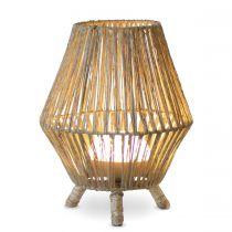 Lampe de table extérieur SISINE en fibres naturelles
