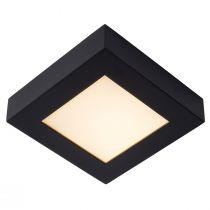 Plafonnier salle de bain LED carré BRICE (H18cm) en aluminium noir