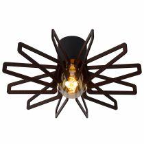 Plafonnier ZIDANE en bois noir