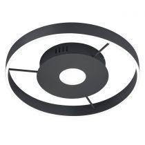 Plafonnier LED LOGAN en métal noir mat