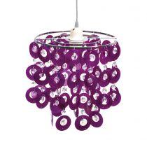 Suspension chambre BETTY violette en PVC