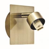 Spot orientable personnalisable REMIX doré en métal