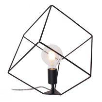 Lampe ampoule CUB noire en métal