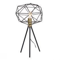 Lampe à poser moderne DAISY (H55) en métal noir