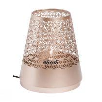 Lampe de table bohème HIPPIE en métal couleur champagne