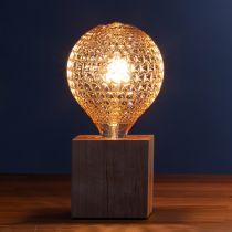 Ampoule déco filament LED E27 SKYLIGHT en verre ambré Ø12.5cm