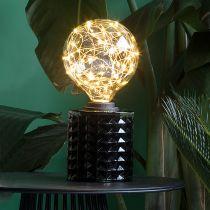 Ampoule déco filament LED E27 STARS en verre ambré Ø12.5cm