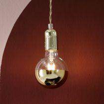 Ampoule déco LED E27 CALOTTE en verre doré Ø9.5cm