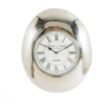 Horloge REVEIL en métal argenté