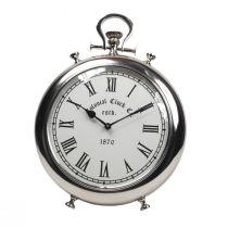 Horloge déco KALI argentée en aluminium