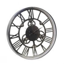 Horloge KALI en métal argenté