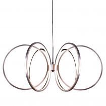 Suspension design LED LEDIE argentée en métal