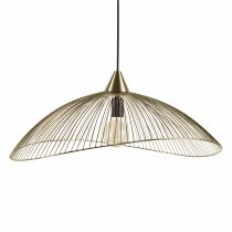 Suspension design filaire ARLINGTON dorée en métal