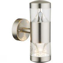 Applique extérieur design Led FOSCA argentée en métal