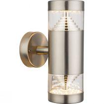 Applique extérieur design Led CELIO argentée en métal