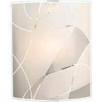 Applique murale PARANJA blanche en métal et verre satiné