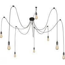 Suspension multiple 8 ampoules MARACANA noire en métal