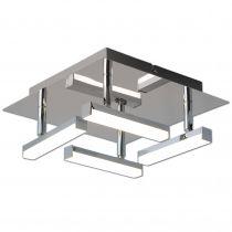 Plafonnier Led design 4 spots DALLAS en métal et PVC