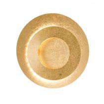 Applique murale design Led LAURENE dorée en métal