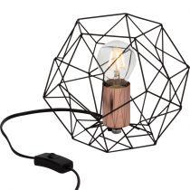 Lampe à poser design filaire SYNERGY noire et cuivrée en métal