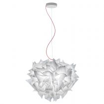 SLAMP - Suspension design L VELI COUTURE blanche en polycarbonate