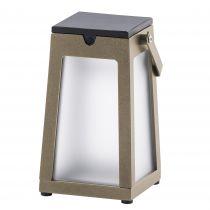 Lanterne solaire extérieur LED TINK en aluminium beige