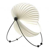 Lampe de sol design ECLIPSE (H52) en acier noir et polypropylène blanc