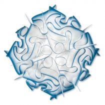 SLAMP - Applique décorative VELI taille M blanche et bleue en PVC